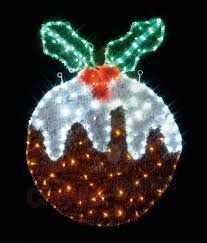 82cm outdoor christmas pudding light silhouette decoration