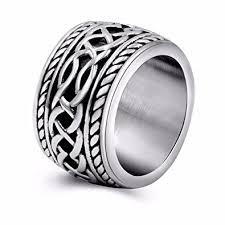 vintage bands rings images Mens vintage stainless steel celtic wedding bands prime wide band jpg