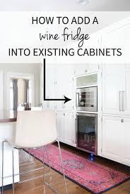 adding a built in wine fridge in the kitchen beverages wine