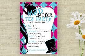 party invitations stylish mad hatter tea party invitations ideas