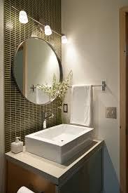 modern half bathroom colors powder room updated to brown color