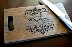 wedding gift engraving ideas personalized cutting board laser engraved walnut 8x14 wood cutting