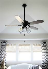Kitchen Ceiling Fan With Lights Easy Industrial Style Fan Makeover Industrial Style