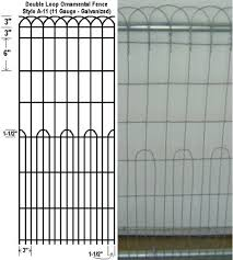 ornamental looped fencing fencing specialty fence