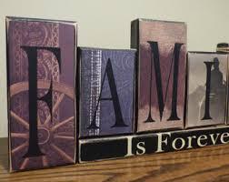 Word Blocks Home Decor Wooden Blocks Wagon Etsy