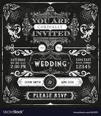 wedding invitations vector vintage wedding invitation royalty free vector image