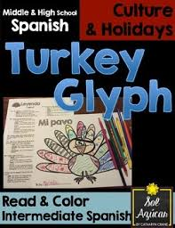 thanksgiving turkey glyph read and color intermediate