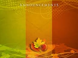thanksgiving colors announceement background church announcements