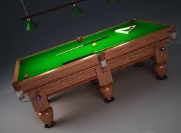 Free Pool Tables Pool Table 3d Model In Sports Equipment 3dexport