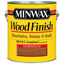 Minwax  Gal OilBased Gunstock Wood Finish  VOC Interior - Interior wood stain colors home depot