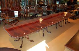 Mahogany Dining Room Furniture Buy Large 18 Ft Burl Mahogany Chippendale Dining Table By Mm