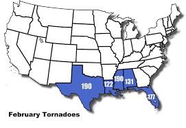 Tornado Map Storm Prediction Center Wcm Page Spc Annual Tornado Maps 19522011