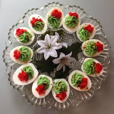 christmas deviled egg plate the infamous dishes appetizers of the astronaut club