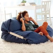 bean bags kids blue bean bag bed chair the land of nod