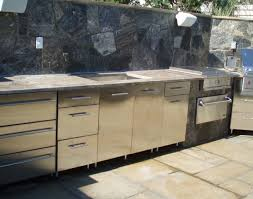 Outdoor Stainless Steel Kitchen - sink enchanting grey color stone outdoor kitchen island stone