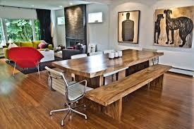 Open Floor Plan Kitchen Dining Room Mango Wood Dining Room Modern With Open Floor Plan Great Room