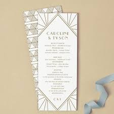 tea length wedding program template printable wedding program template instant gatsby