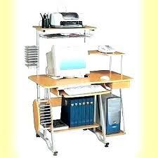 computer and printer table printer shelf for desk computer desk with printer storage printer