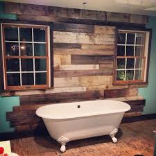 reclaimed things wood wall rustic bathroom other by