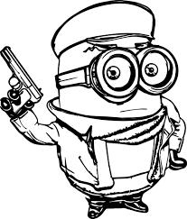 minions old mafia coloring page wecoloringpage
