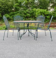 Wrought Iron Patio Table And Chairs Wrought Iron Sunbeam Patio Table And Chairs Ebth