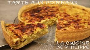 la cuisine de philippe tarte aux poireaux
