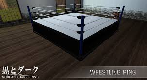 Wrestling Ring Bed by Ts3 Wrestling Ring Noir And Dark Sims