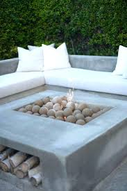 wood burning fire table concrete wood burning fire pit shock bowl inch square cor ten steel