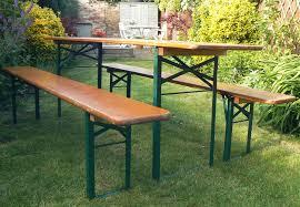 german beer garden table and bench industrial german beer garden table 2 benches retro vintage mid