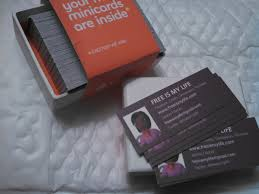 mini business cards free free is my 100 free mini business cards from moo just