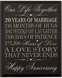 20th anniversary gift for new savings on 20th wedding anniversary wall plaque gifts for