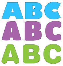 colorful printable letters letter idea 2018