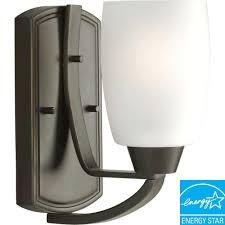 progress lighting 2 light brushed nickel fluorescent bath light