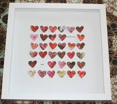 wedding gift photo frame anniversary or wedding gift frame with hearts s