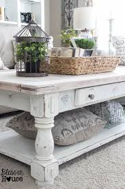 Distressed White Table Best 20 Coffee Table Makeover Ideas On Pinterest Ottoman Ideas