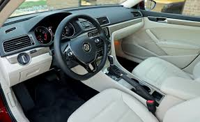 volkswagen sedan interior 2017 volkswagen passat in depth model review car and driver