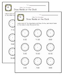 time worksheets all kids network