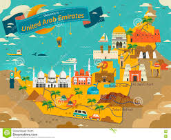 map of the uae uae travel concept map stock illustration image of style 72630961