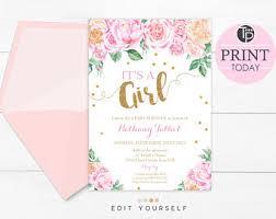 girl baby shower invitations girl baby shower invitations weareatlove