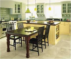 kitchen island with table combination ideas in using a table as a kitchen island my home design journey