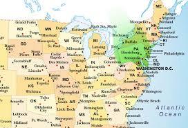 Gardening Zones Usa - map of atlantic states map usa map images