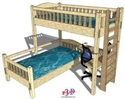 137 u2013 90 degree twin bunk beds with a desk 3d woodworking plans