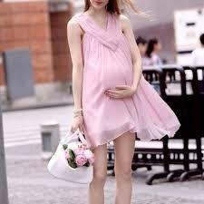 pregnancy clothes pink women pregnancy clothes sleeveless clothing v neck chiffon