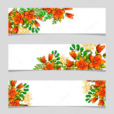 All About Flowers - three floral banners u2014 stock vector all about flowers 70380055