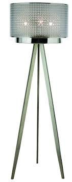 floor lamp fixture shown in brushed nickel from the paparazzi collection by trend lighting tf7766