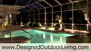outdoor lighting service for swimming pools inside pool cages and