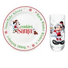 cookies for santa plate your wdw store disney glass and plate set cookies and