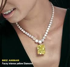 yellow diamond pendant necklace images Custom necklace for fancy intense yellow diamond jpg