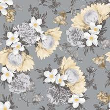tempaper botanical removable wallpaper pale yellow