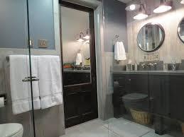 Industrial Bathroom Mirror by Pocket Door With Mirror Bathroom Contemporary With Bath